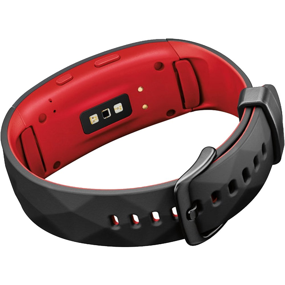 Flip the device over to see the heart rate monitor.