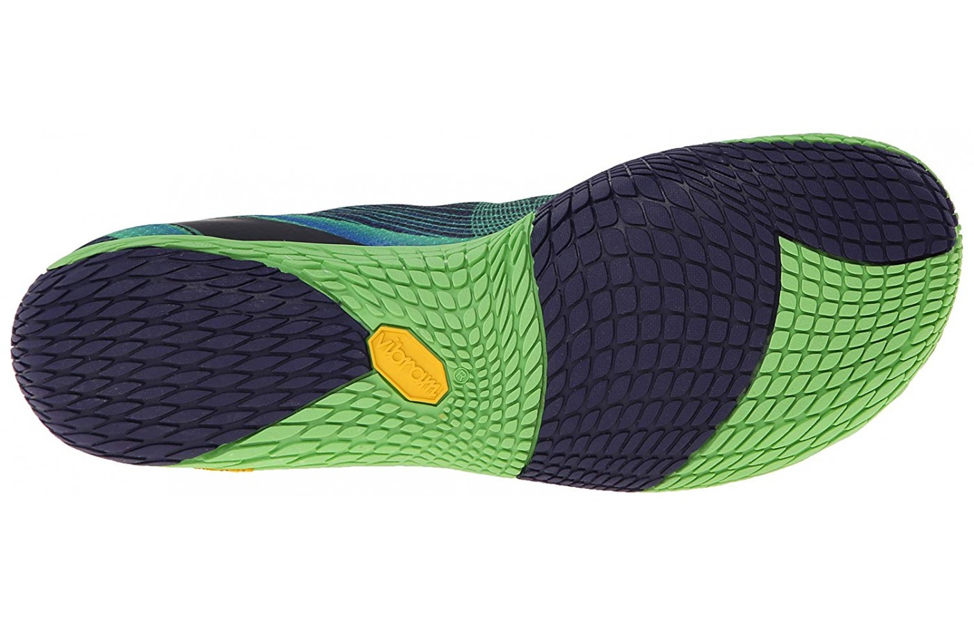 Light groove patterns on the outsoles are flexible.
