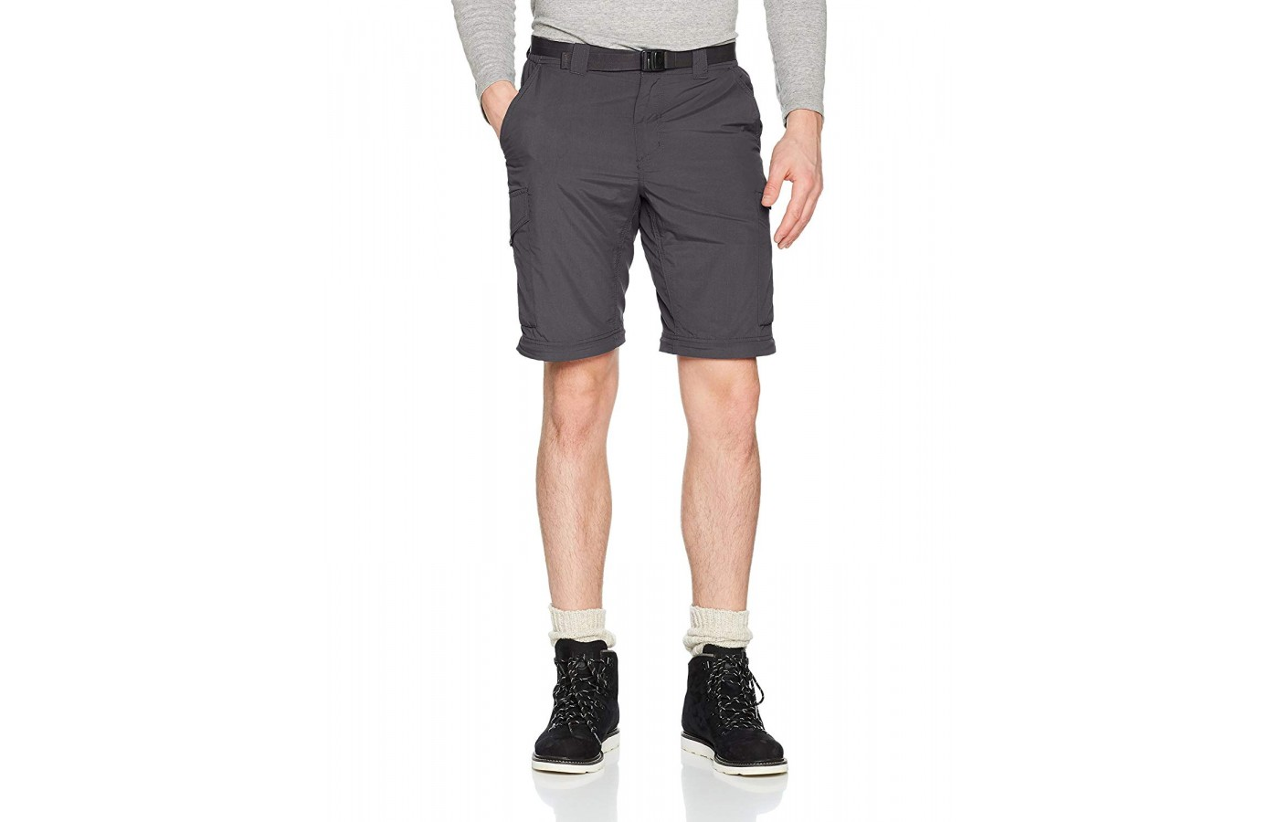 The shorts have a ten-inch inseam for excellent coverage on the trail.