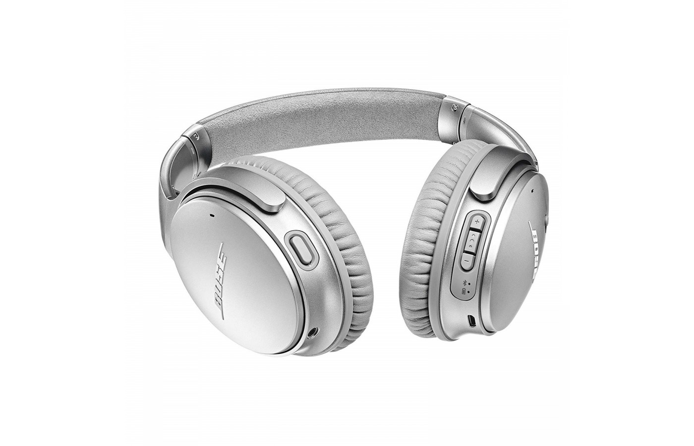 The Bose QuietComfort 35 offers plush synthetic leather ear cups for comfort.