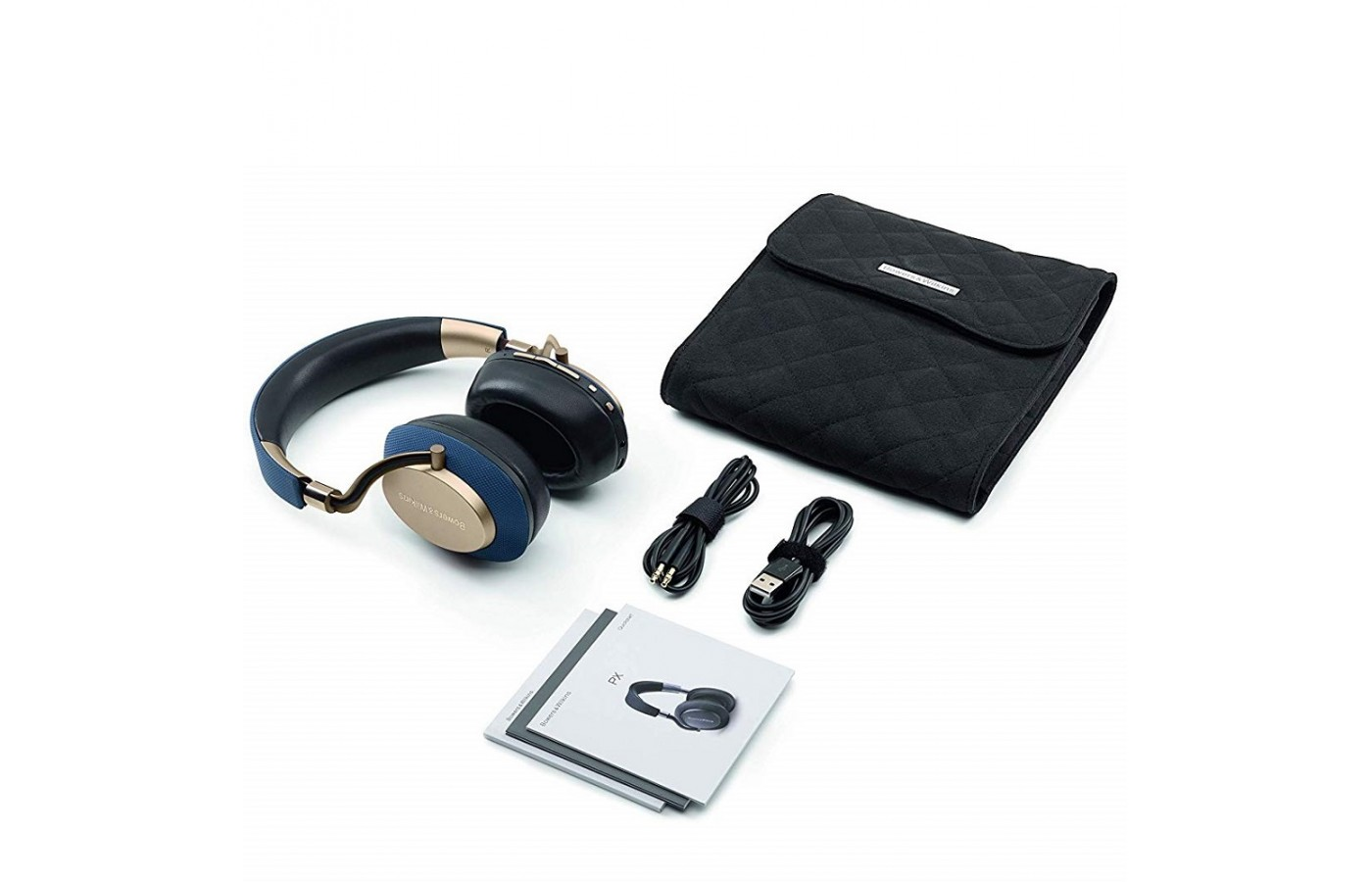 The Bowers & Wilkins PX comes with charging accessories and a protective bag for easy travel.