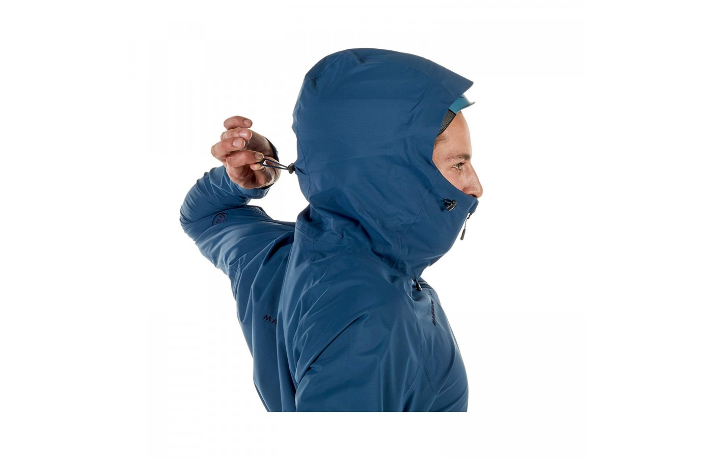 The hood, which declares itself always capable of staying in place, is also helmet compatible, insisting that it is not floppy without the helmet option but perfectly capable with it.