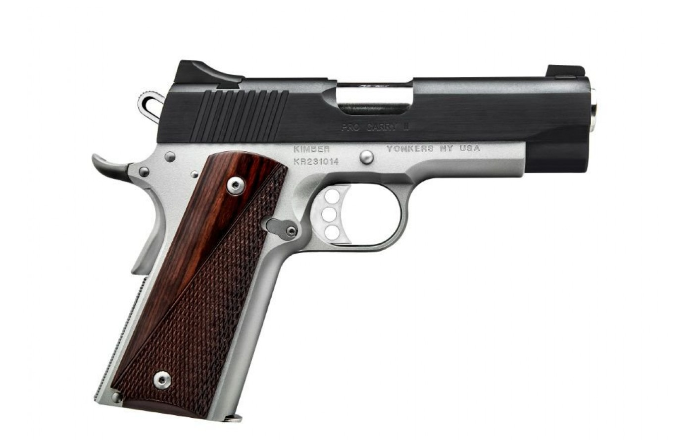 An alloy frame makes the pistol light and simple to handle.