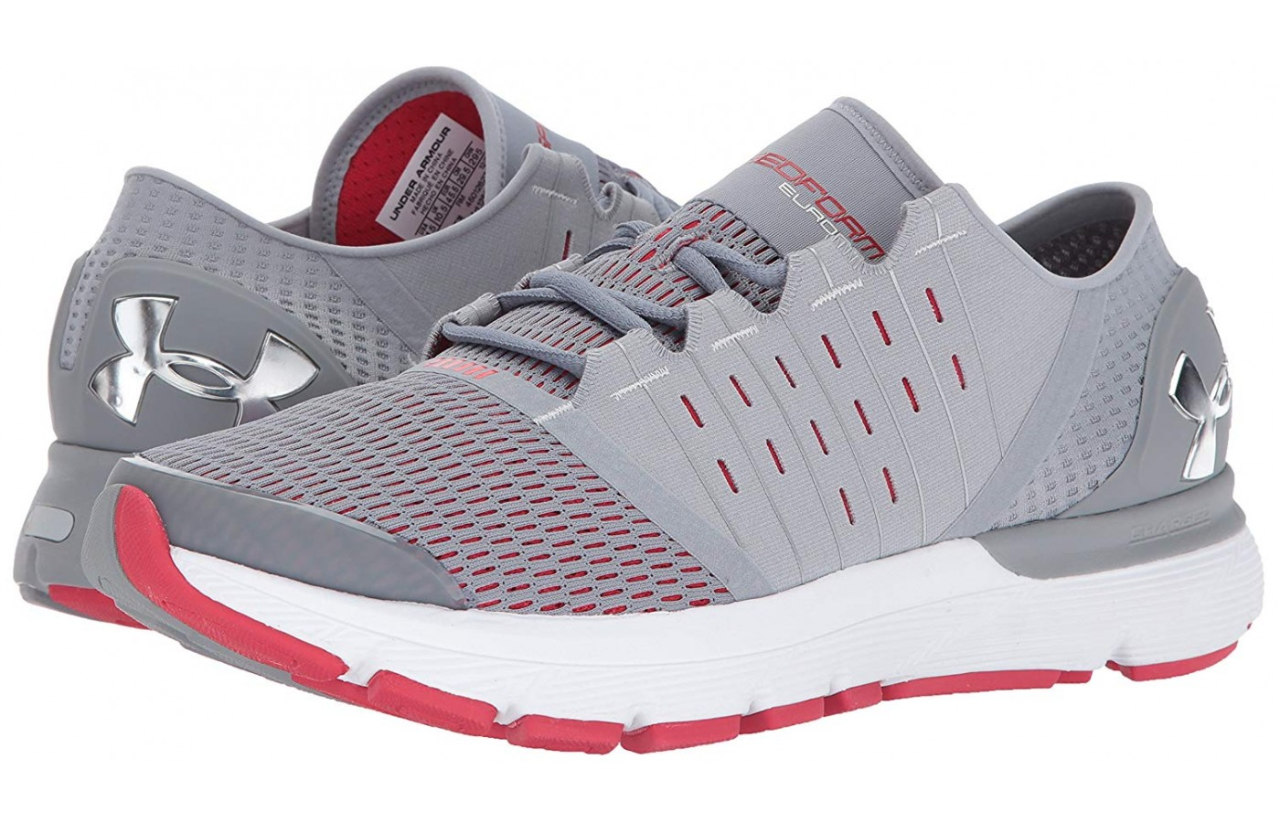 The UA Speedform Europa is among the best running shoes providing the necessary support to run comfortably on sidewalks and asphalt roads for long periods.