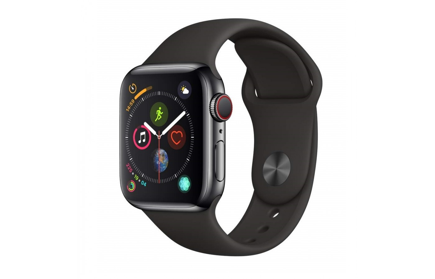 The Apple Watch Series 4 offers a silicone band in order to offer superior comfort.