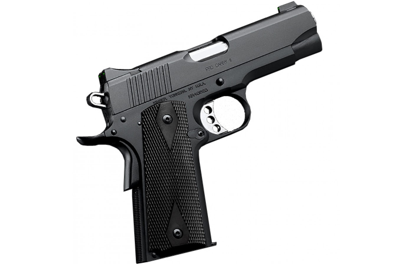 Kimber offers several design variants of the Pro Carry II that include a black on black version.
