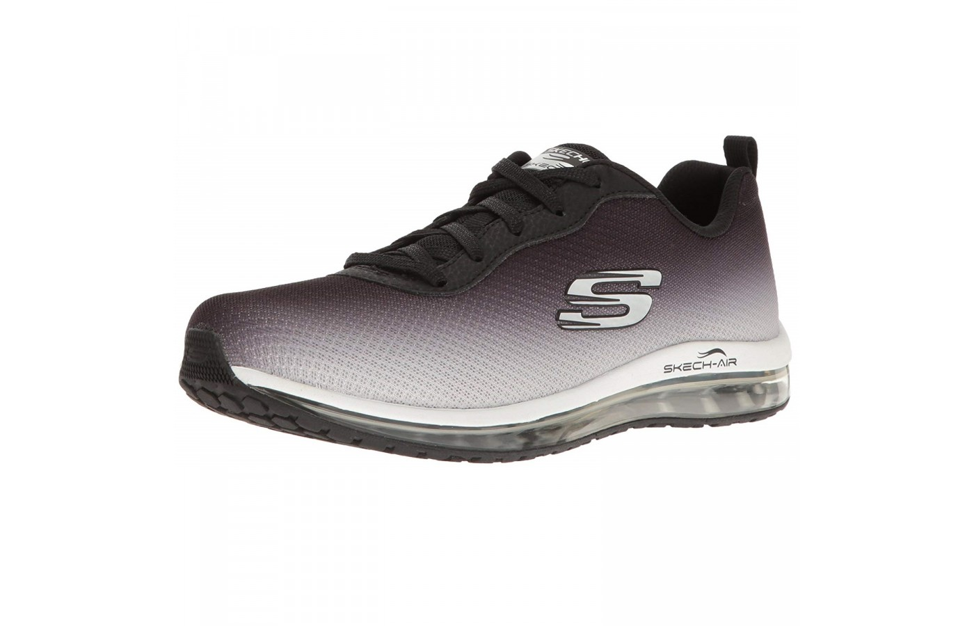 The Skechers Skech Air offers soft woven flat knit mesh in order to offer the highest level of breathability.