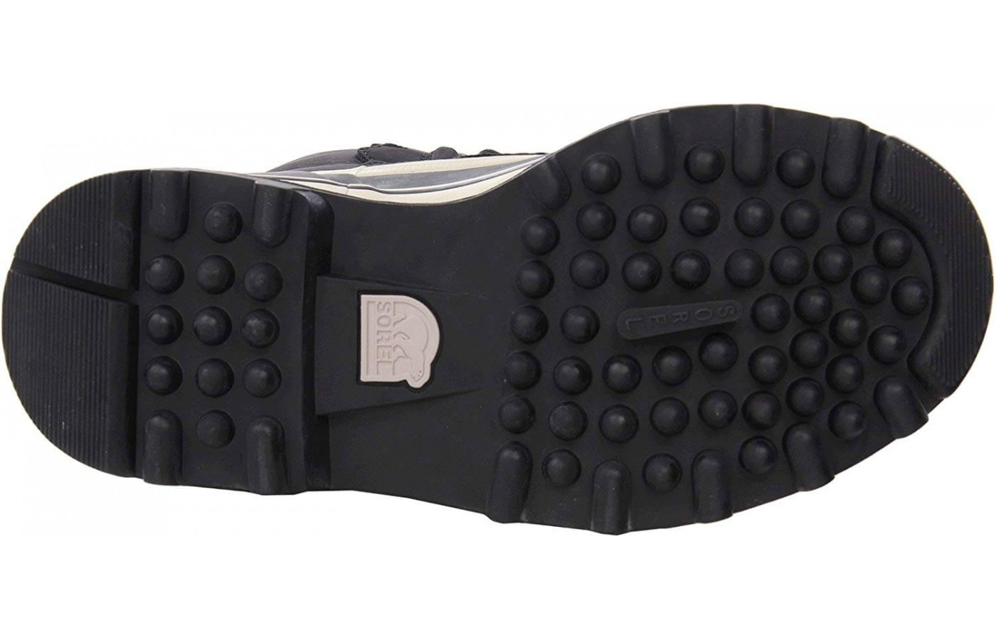 The bottom of the outsole of this boot is designed to keep you crunching through snow safety and effectively.