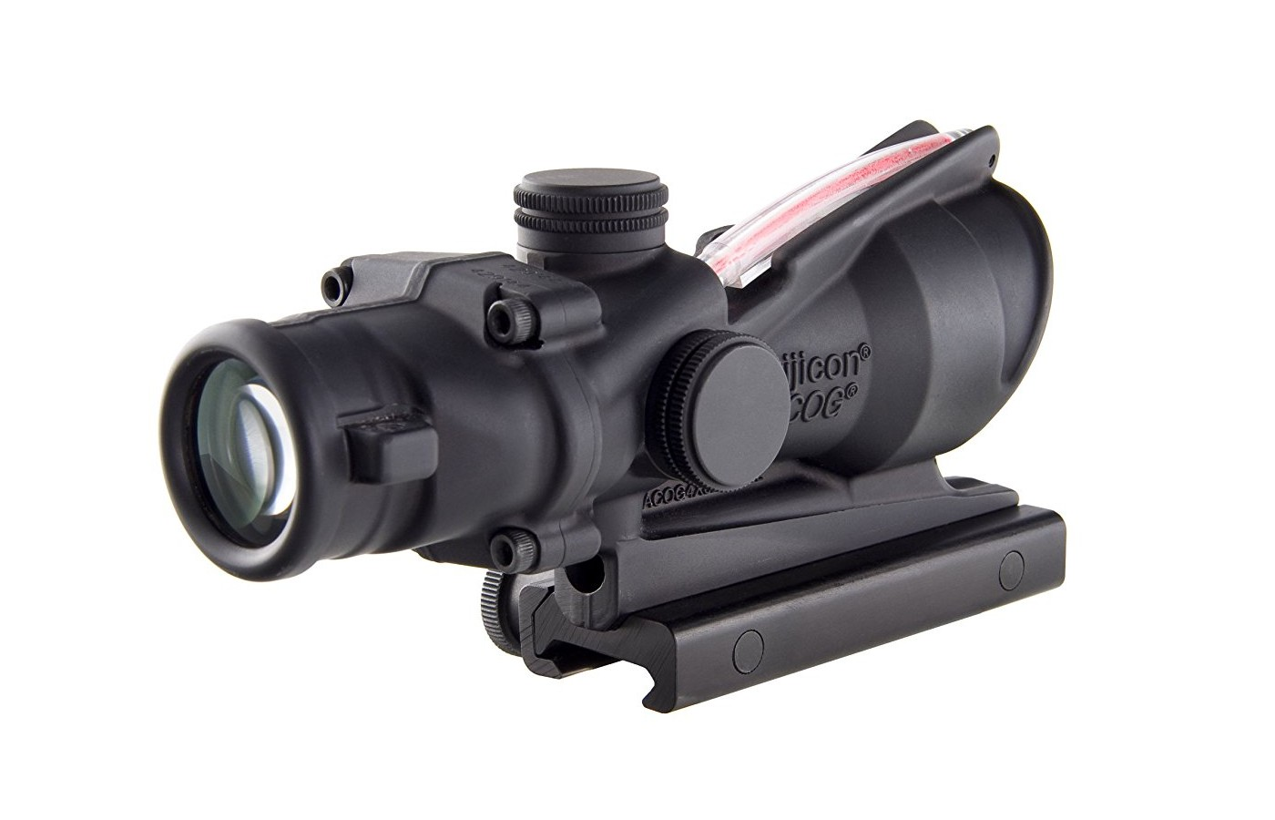 "The third is the product name, ""Trijicon ACOG"" which will be molded as part of the main housing during the forging process"