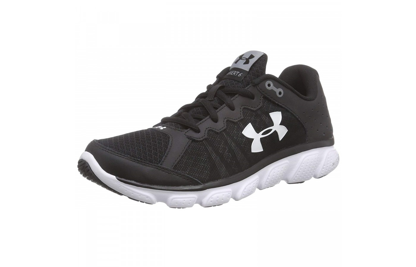 The Under Armour Micro G Assert 6 offers a lightweight outsole for less drag when competing.