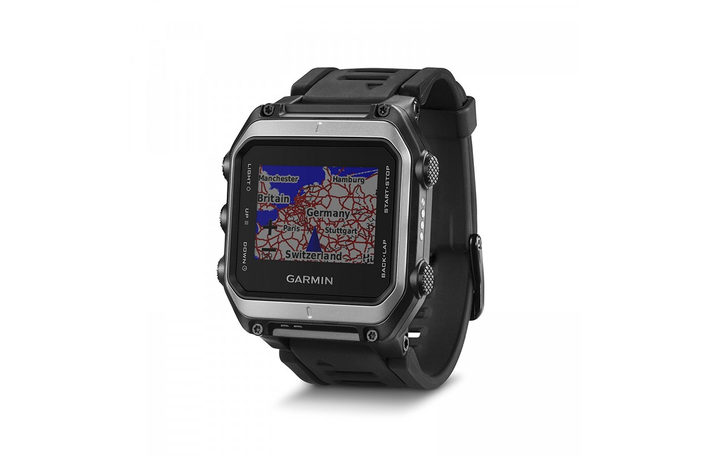 The Garmin Epix features a touchscreen and buttons for navigation.