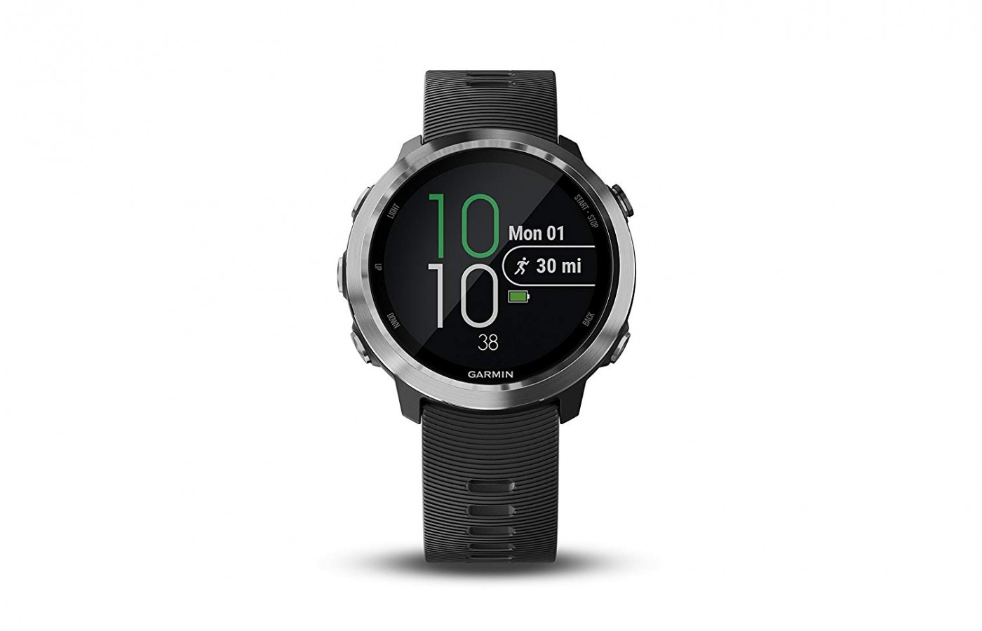 Garmin's new phone free music watch also features button scroll over touch screen.