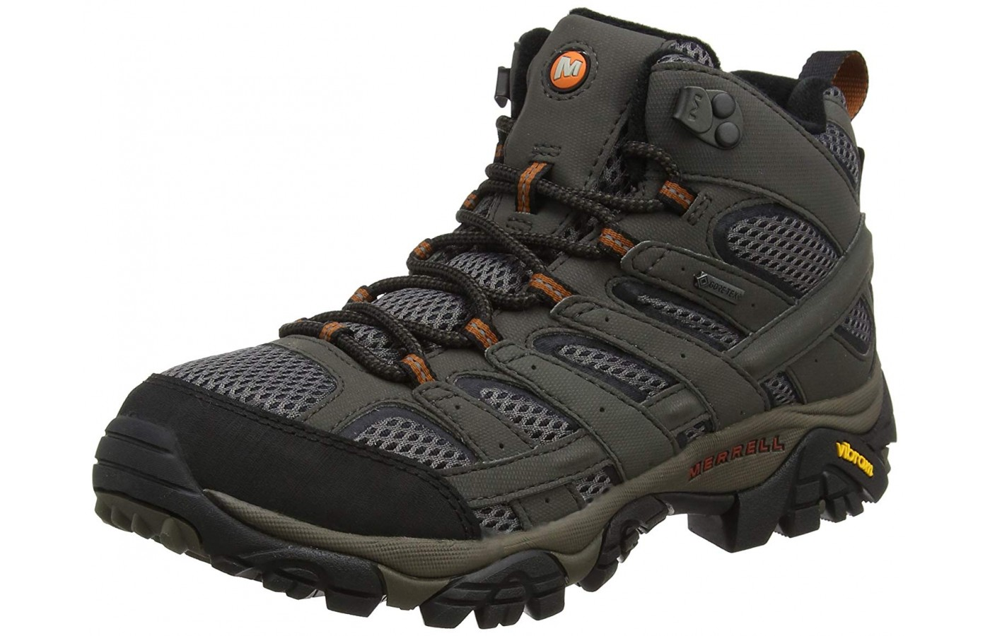 Moab's mid high boots cover enough to offer protection without becoming too restrictive.