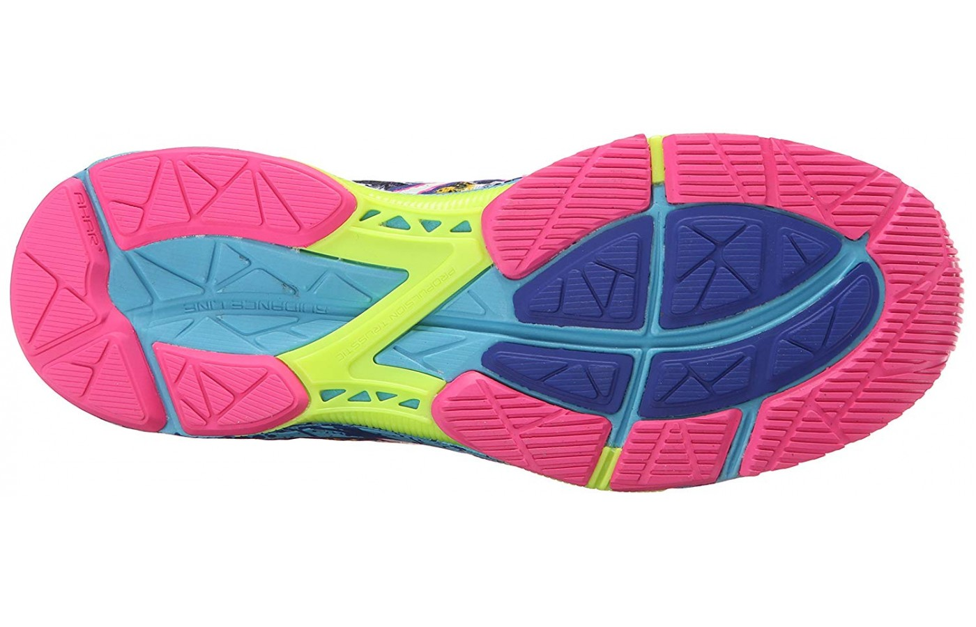 The outsole is made of AHAR (Asics High Abrasion Rubber).