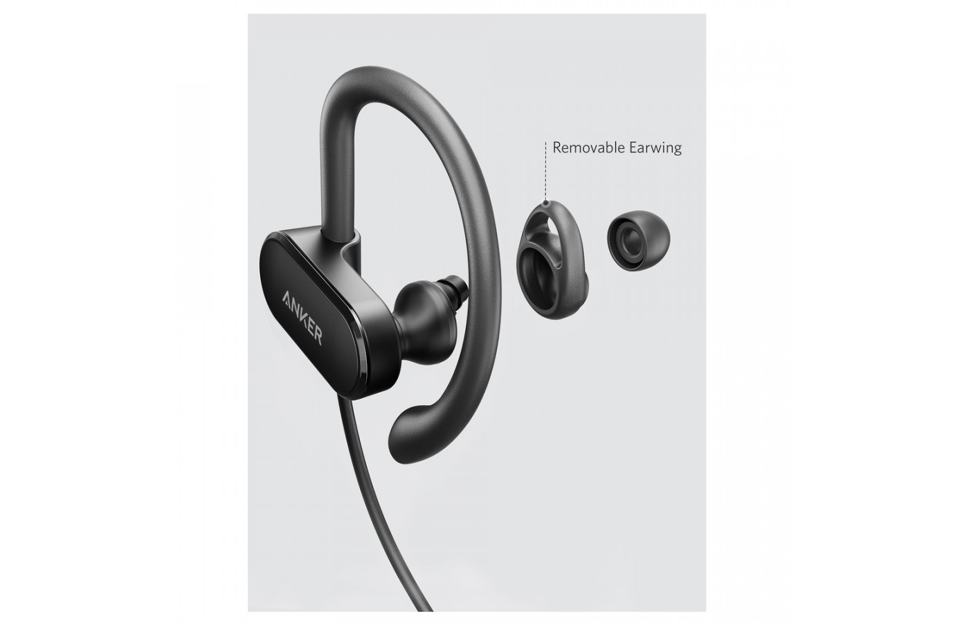 The Anker SoundBuds Curve have a removable earwig for cleaning and adjustable comfort.