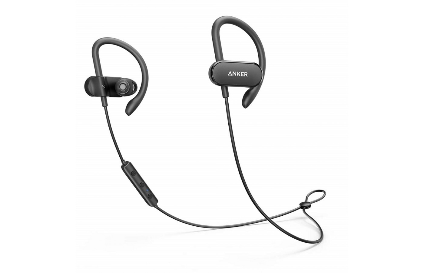 The Anker SoundBuds Curve offers a flexible arm for a more secure fit.