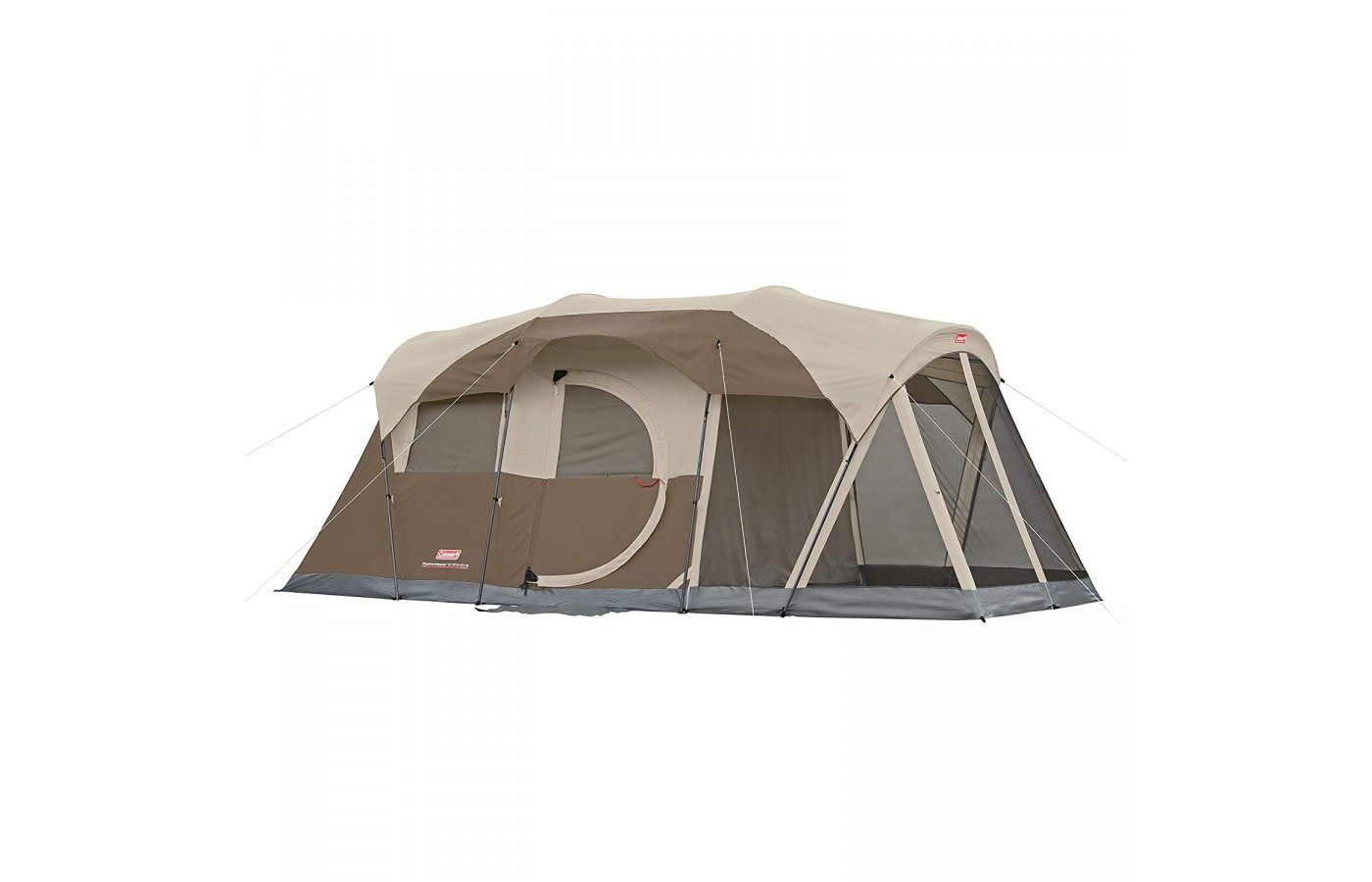 The Coleman Weathermaster has two-rooms and can hold up to 6 campers.