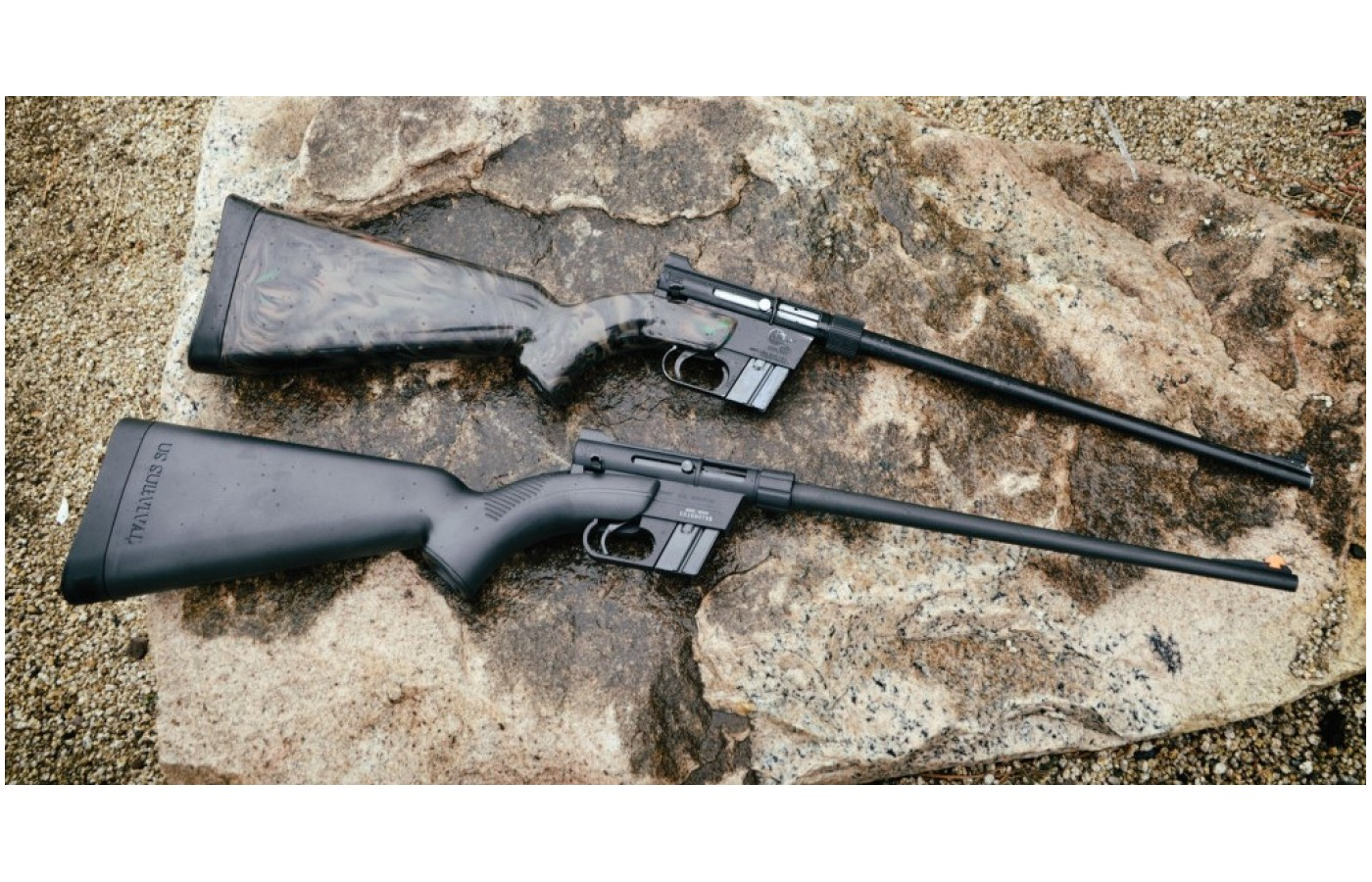The AR-7 is designed to be used as a get-home or last-ditch bug-out rifle, mostly intended for shooting small game.