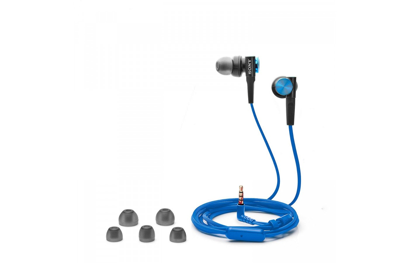 The Sony MDRXB50AP offers additional replacement ear buds for a more customized fit.