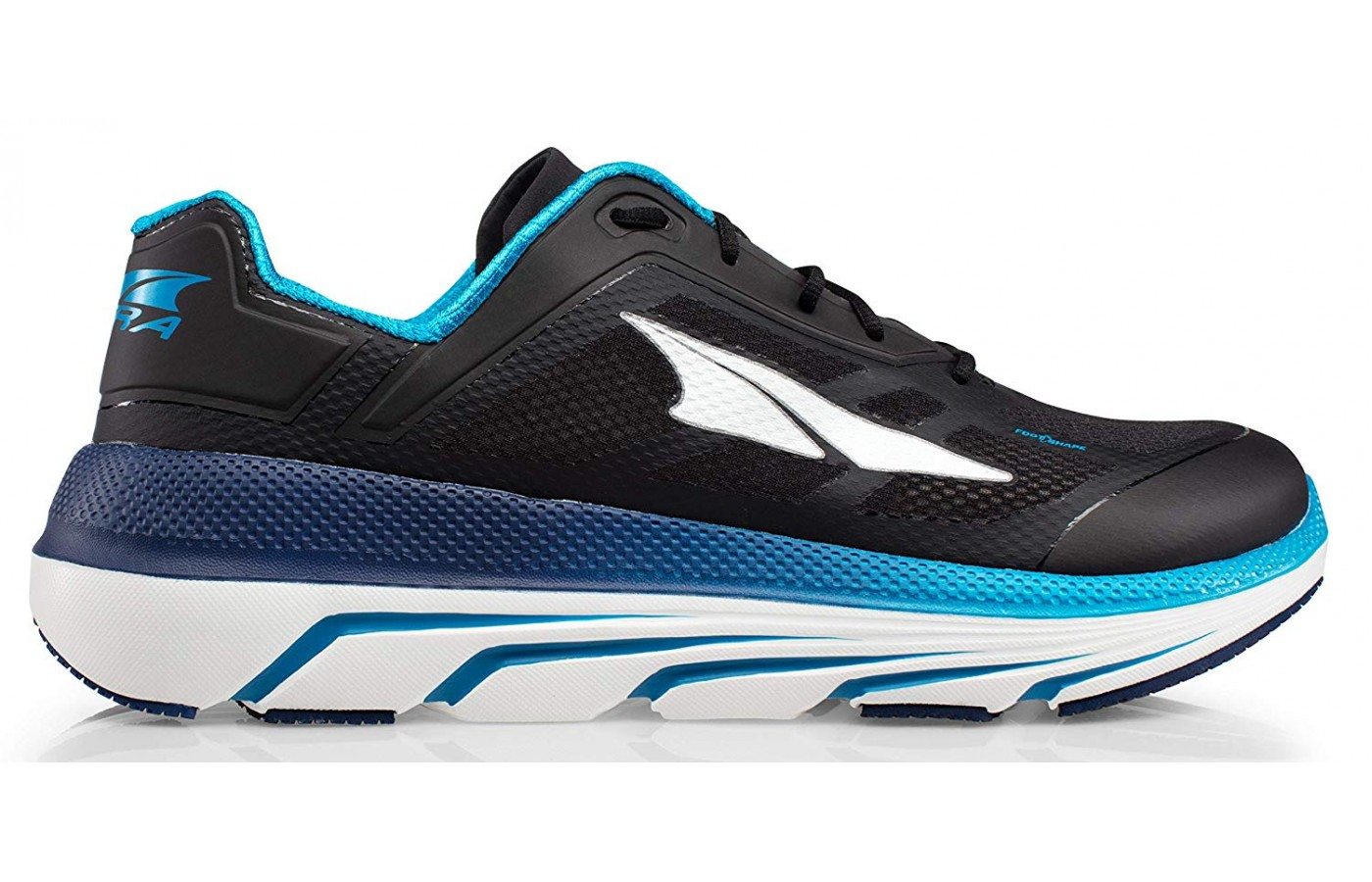 The upper of the running shoe is made of lightweight mesh.