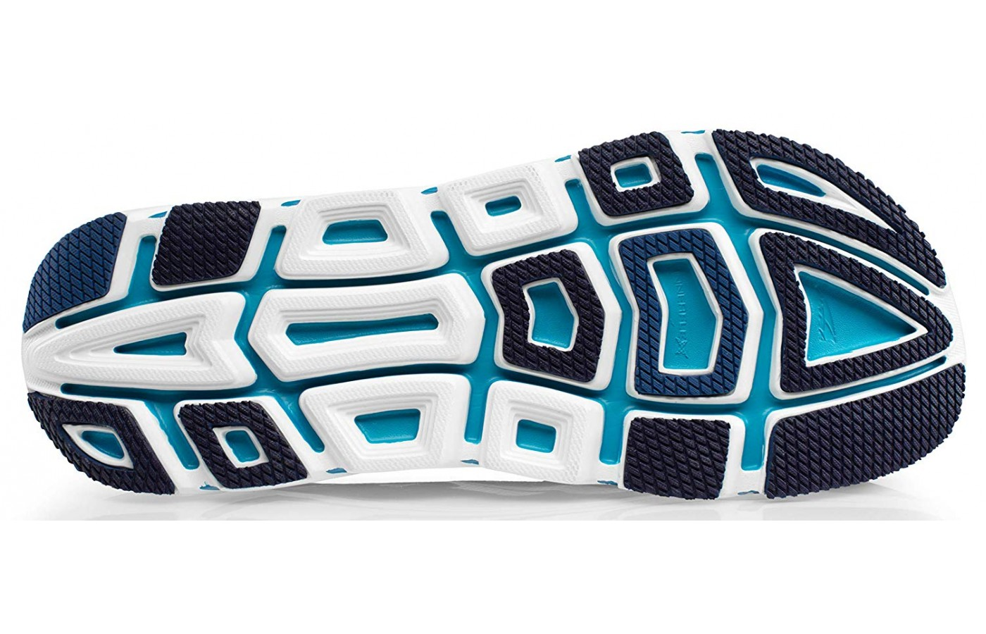 The outsole has rubber which supports the foot.