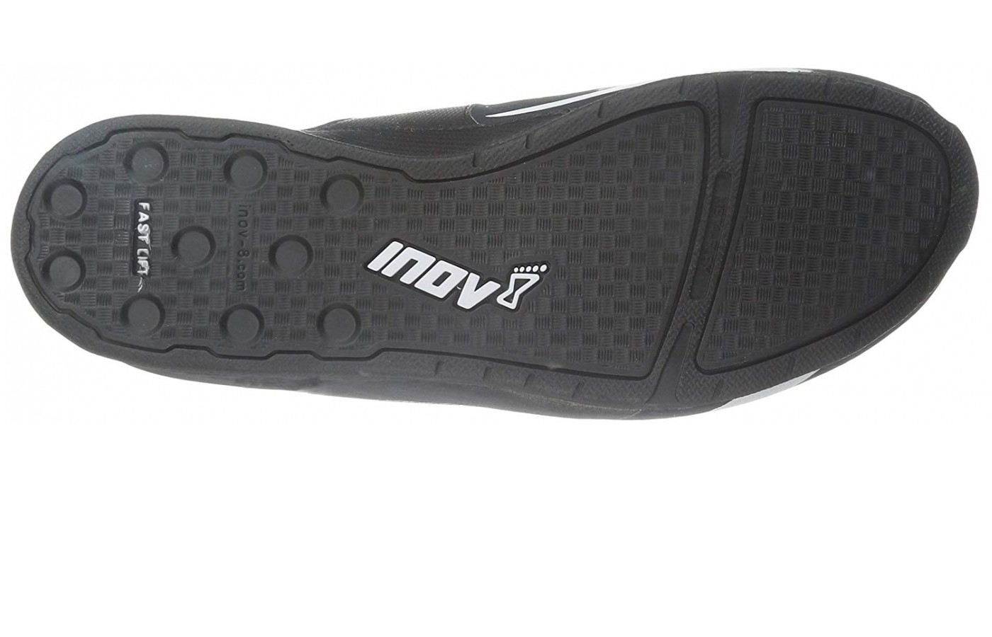 The outsole has a sticky rubber material.