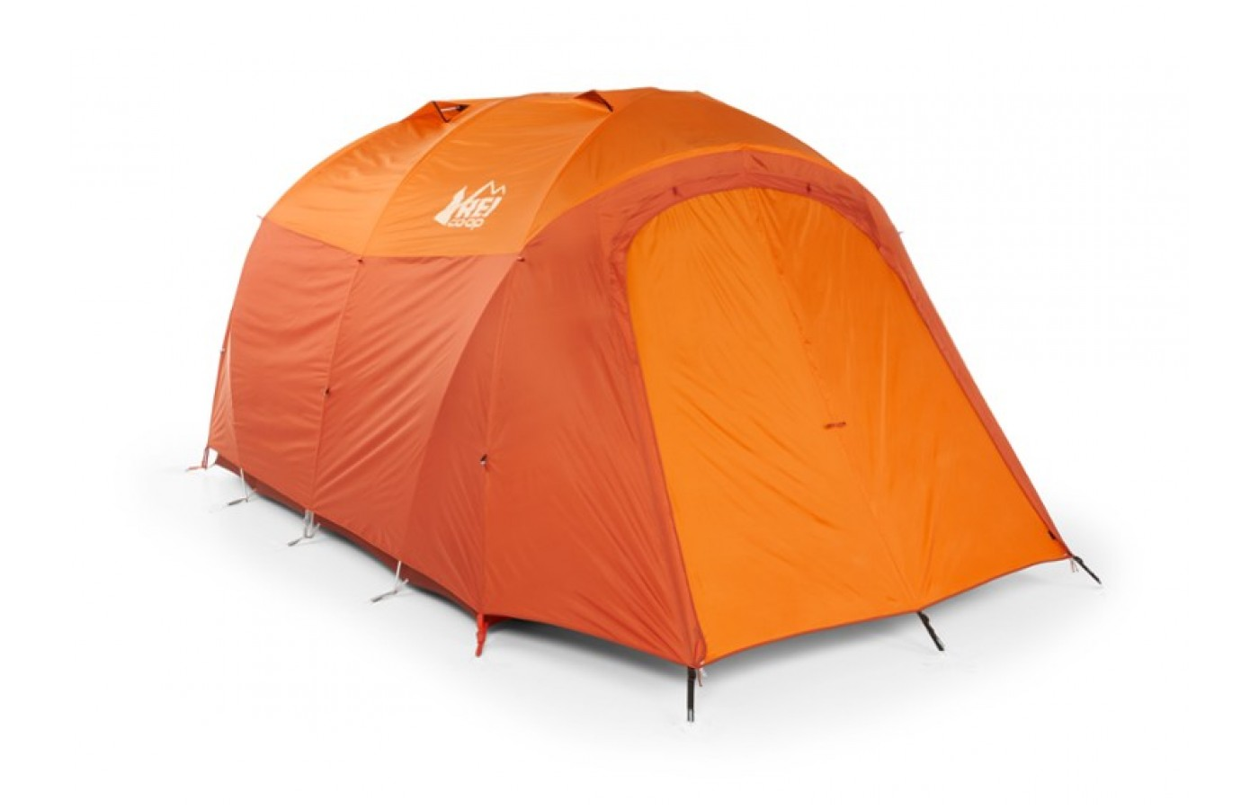Half of the interior of the tent is mesh, the other is made of a more substantial tent fabric.