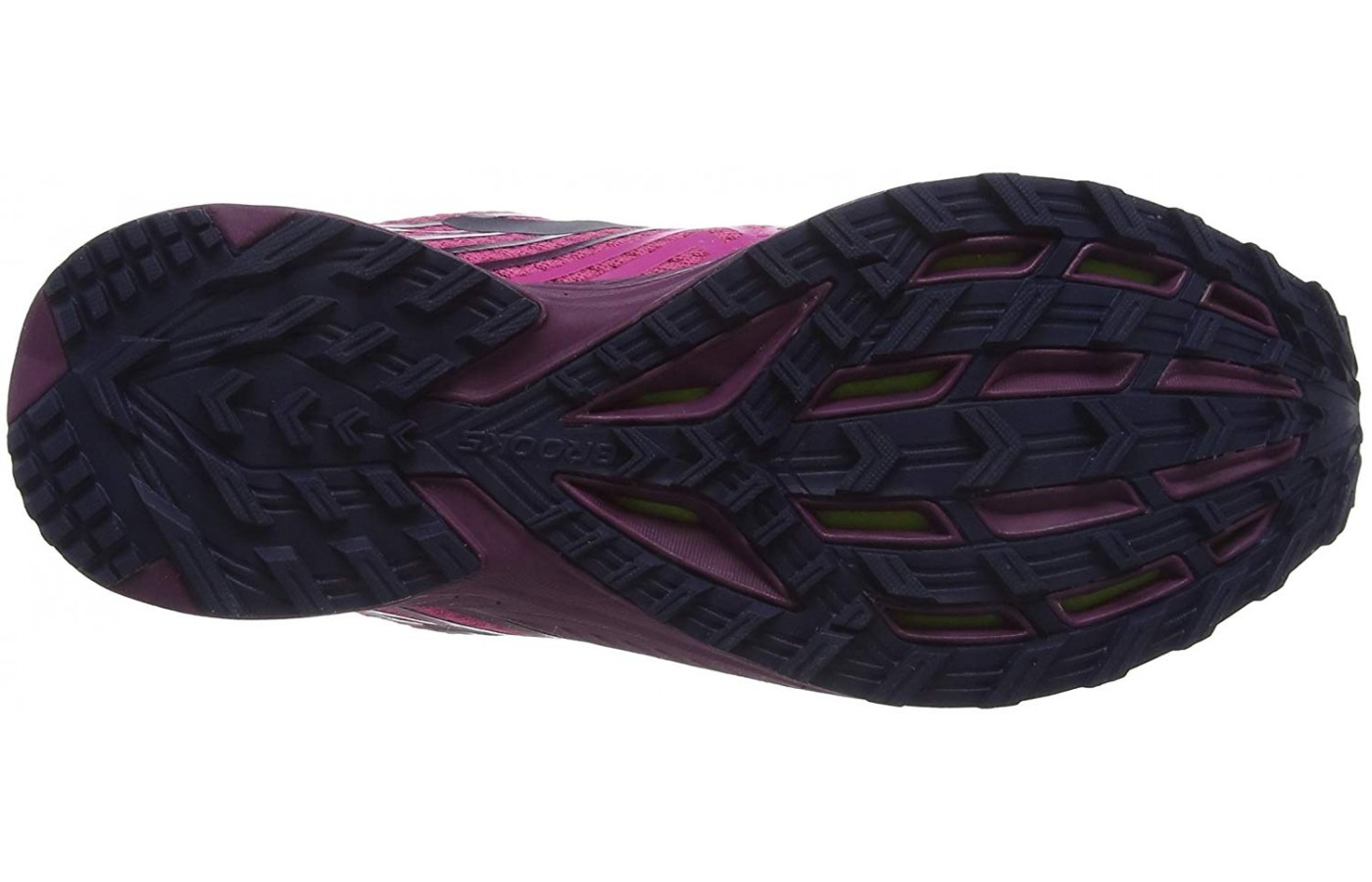 The lightweight trail running shoes boast an outsole that has multi-directional grippy lugs.