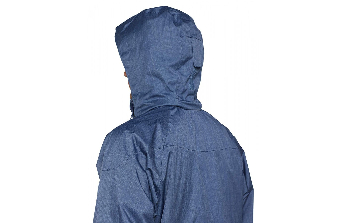 The jacket has an articulating removable storm hood that provides protection from the elements.