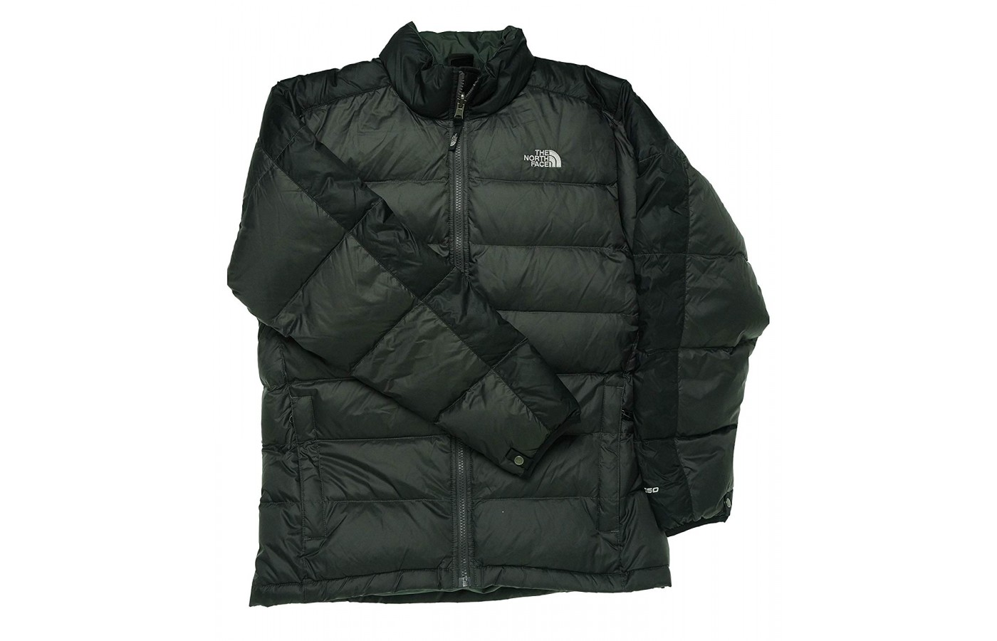 The boys' jacket is a toasty lightweight down jacket.