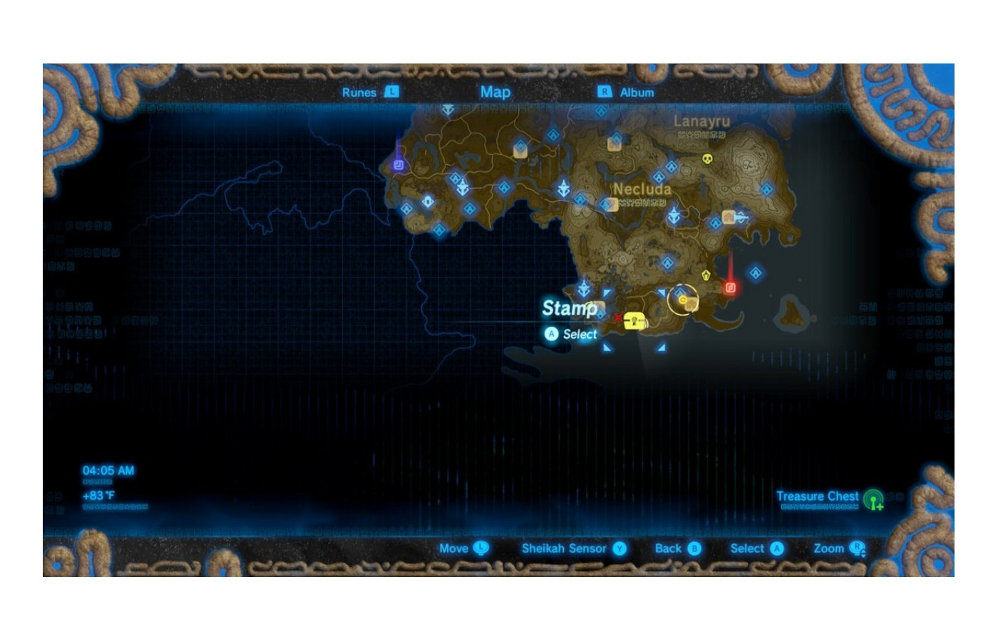 The map can be opened any number of ways and can be explored differently each playthrough.