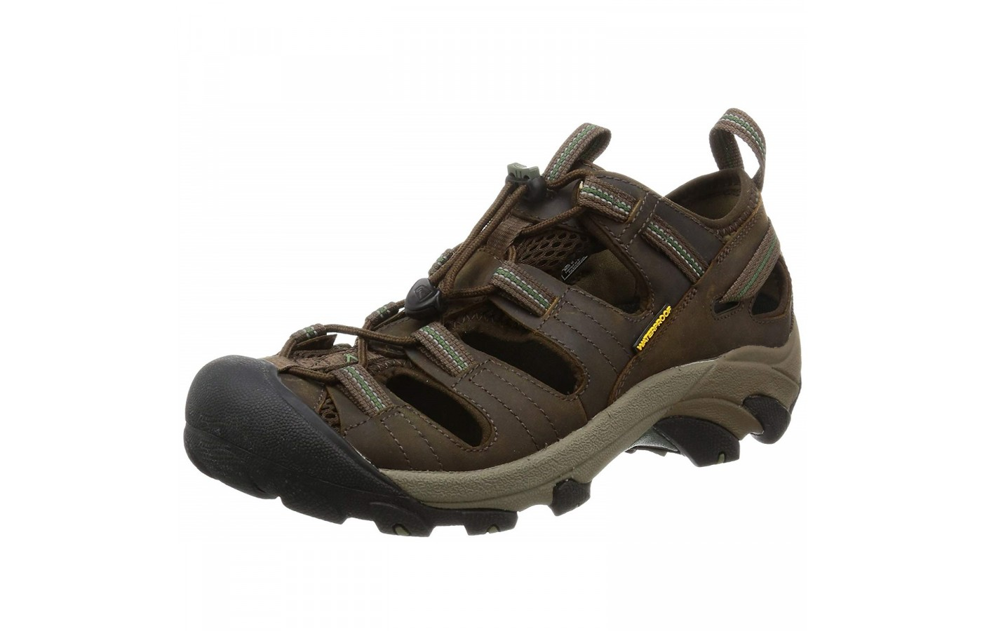 The Keen Arroyo II has a secure elastic lacing system for easy on and easy off.