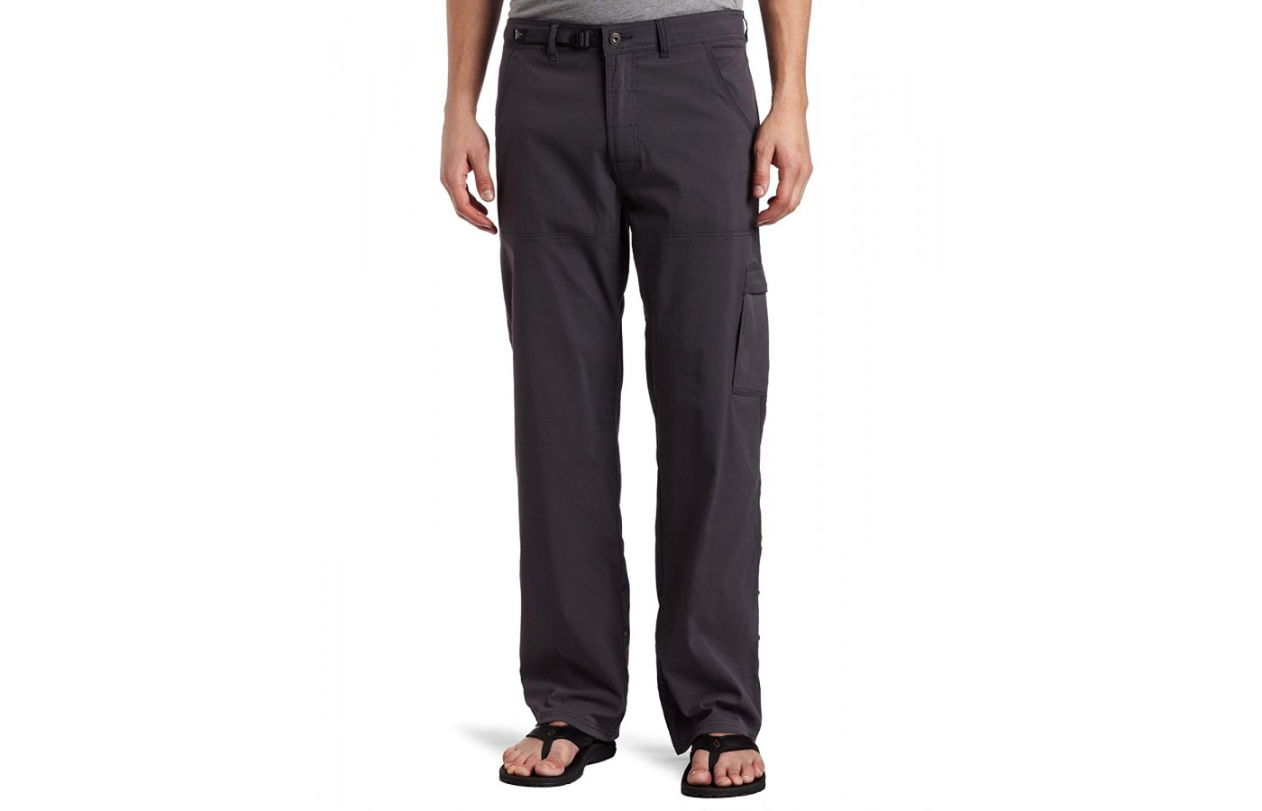The Prana Stretch Zion offers dual entry cargo pockets for storage.