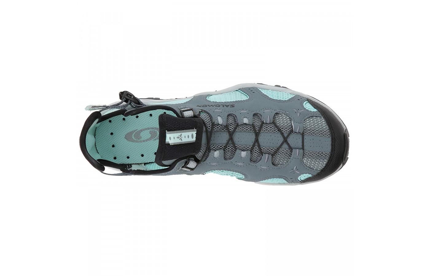 The Salomon Techamphibian 3 offers small drain holes throughout its insole and outsole for better drainage to keep feet dry even when in and out of water.