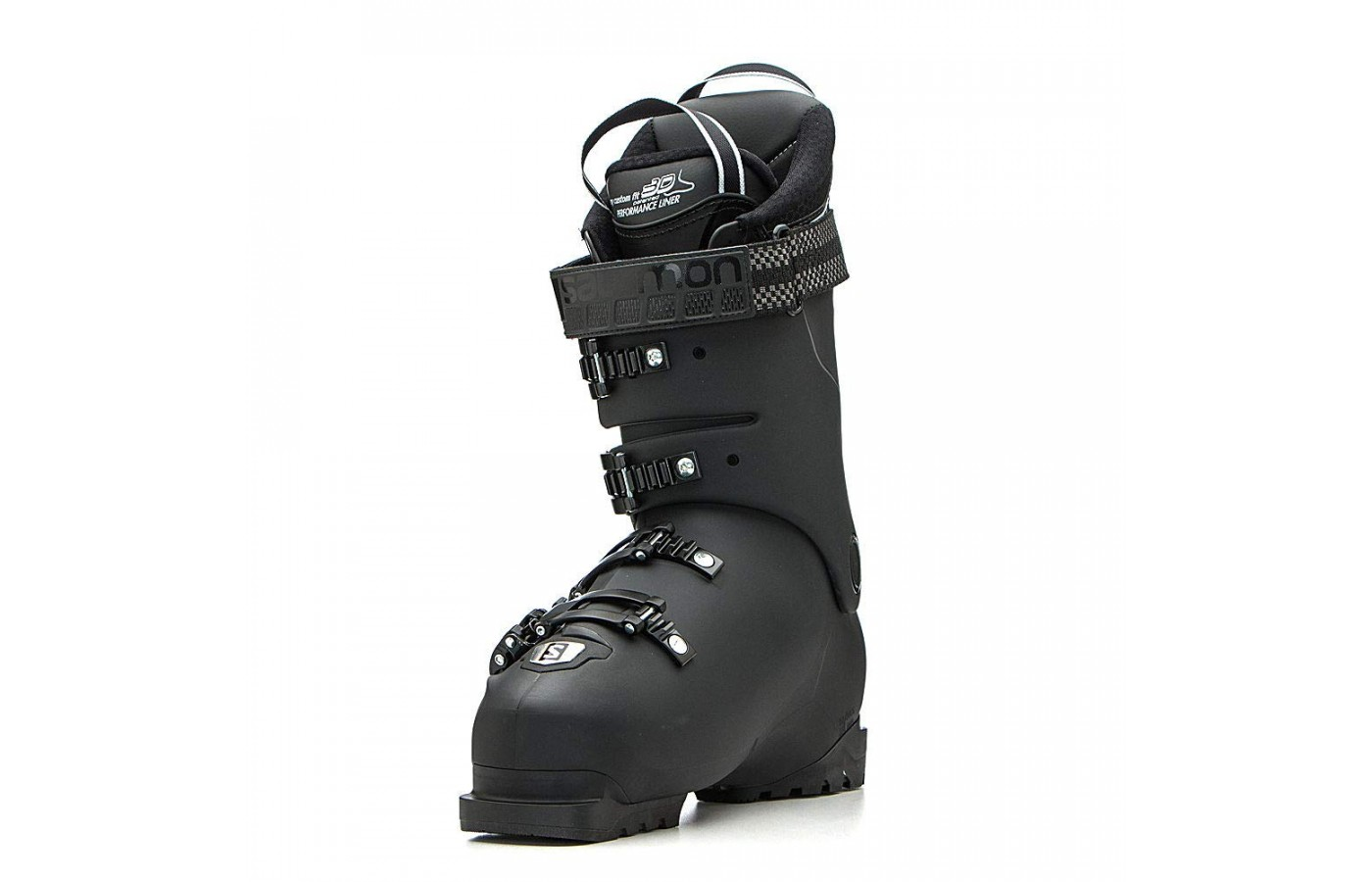 The Salomon X Pro 100 also offers a pre-shaped liner for better power distribution and comfort while riding.