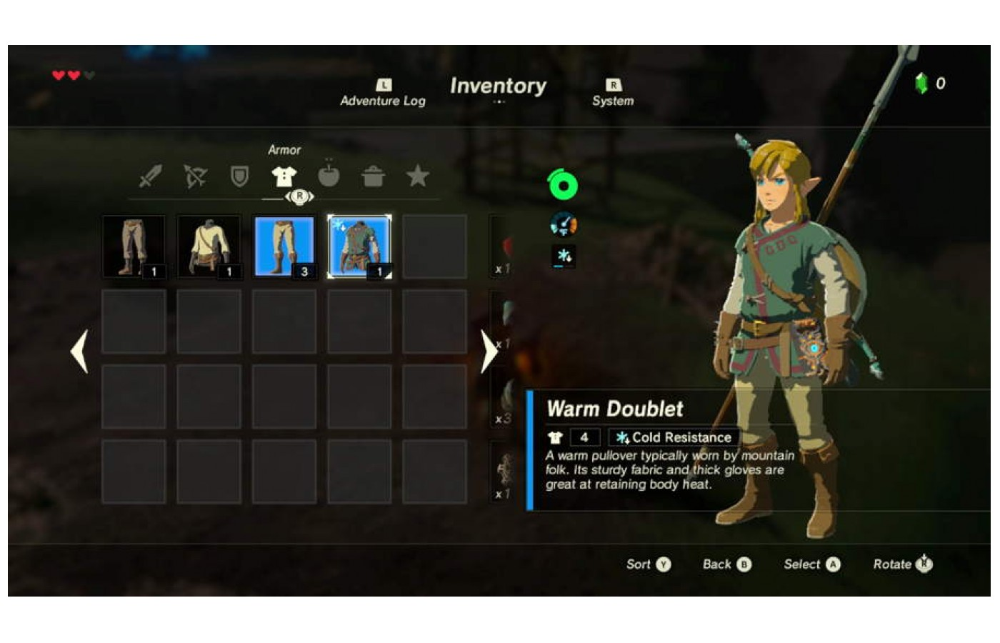Collect all he different outfits in order to more easily traverse Hylia.