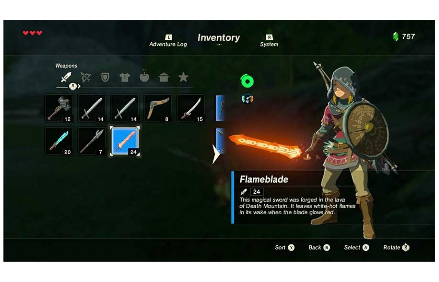 Weapons can break in this game- but the Mastersword can give you at least one that self-repairs.