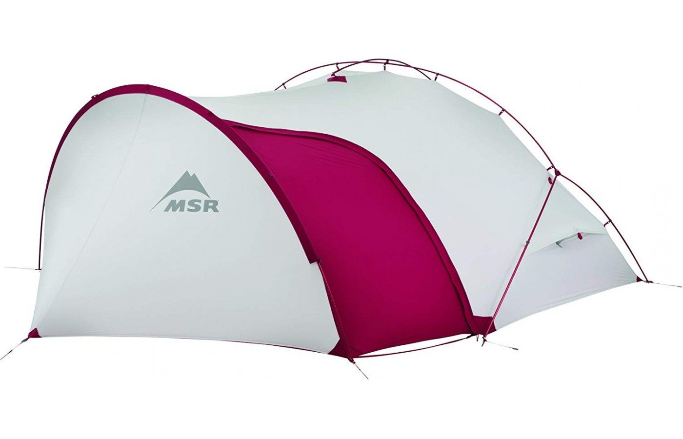 This tent is meant to be used by two motorcyclists.