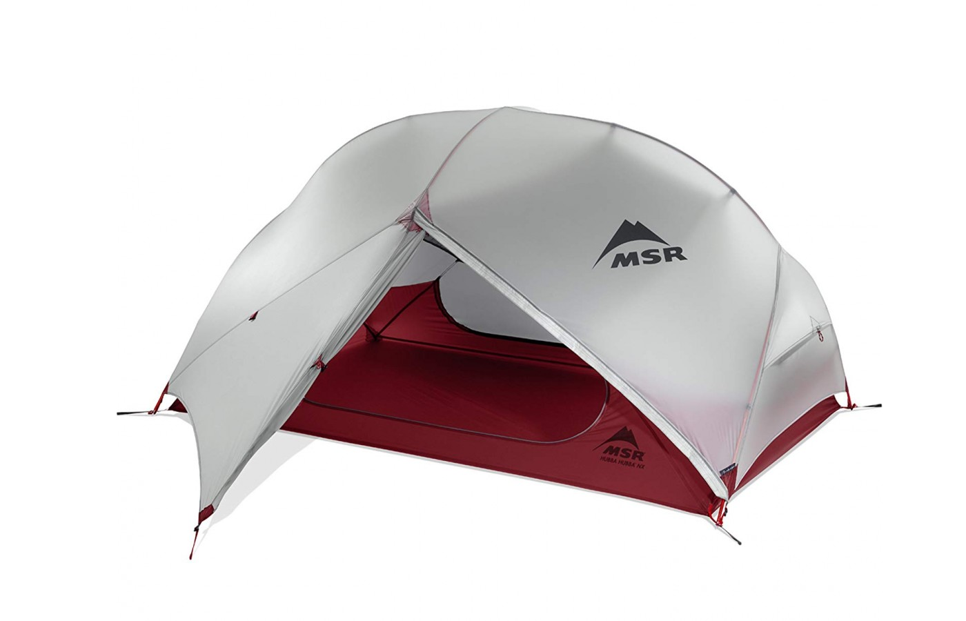 The tent is lightweight.