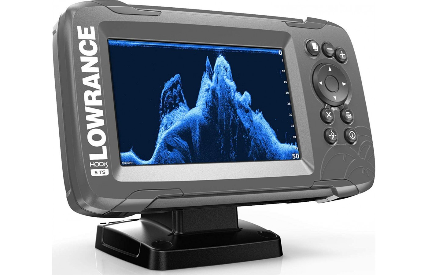 This fish finder has a high-resolution display.