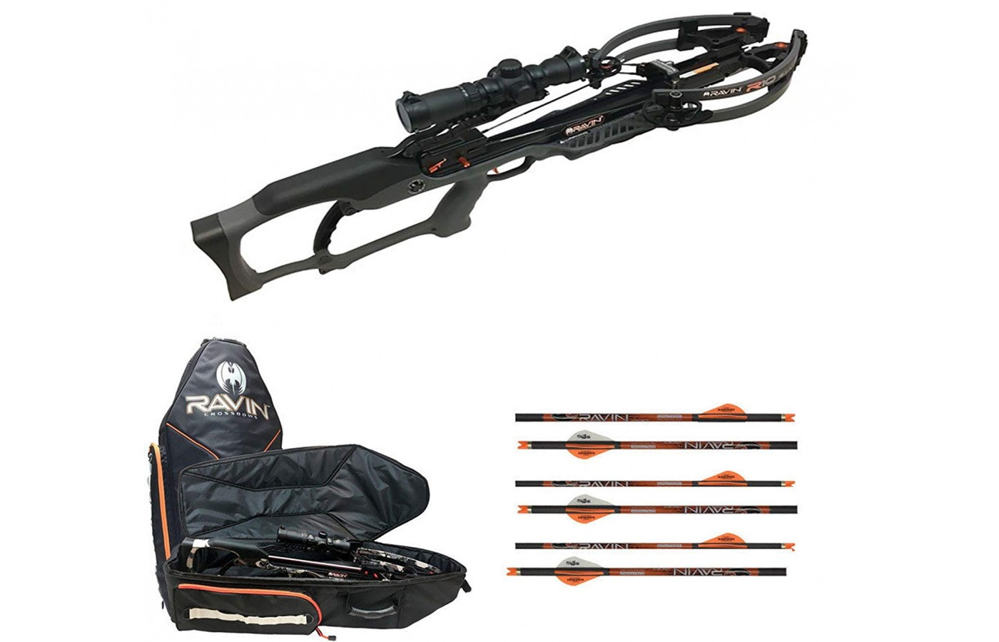 The Ravin R10 is often sold as a package deal with a soft case and six arrows.