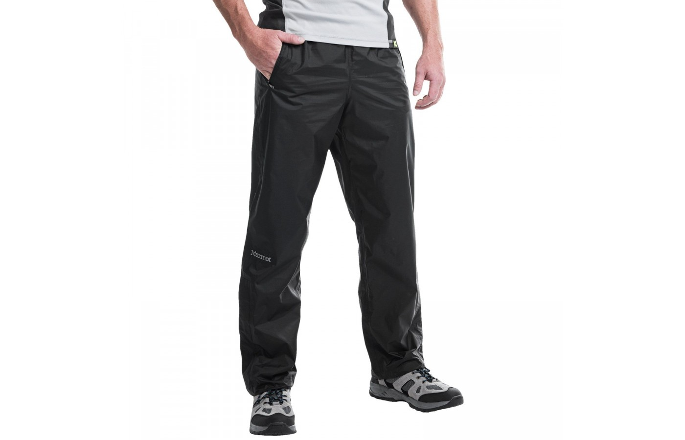 Marmot PreCip Pants are waterproof for hiking on rainy trails.