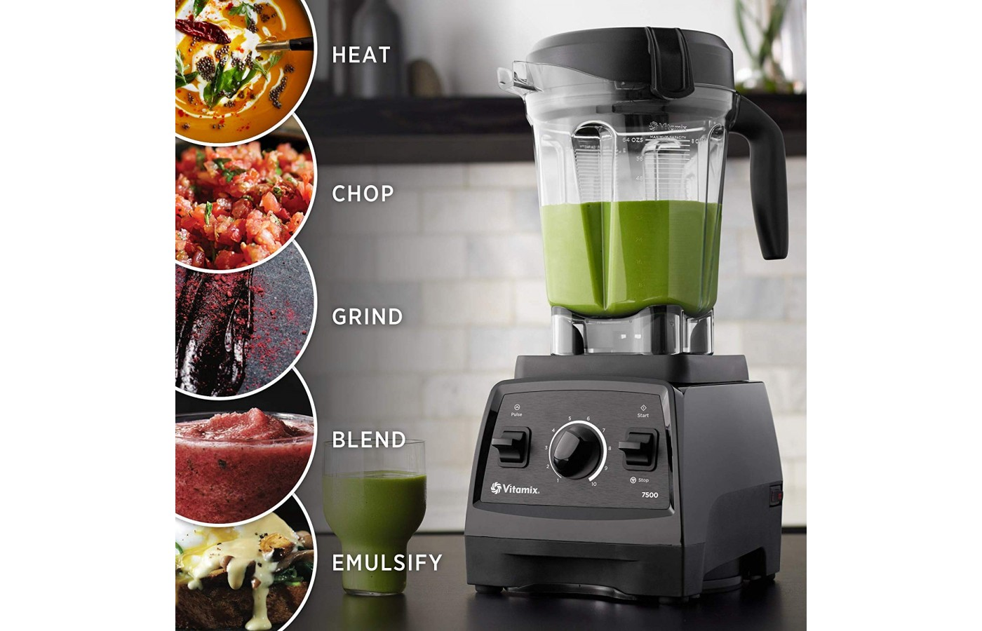 The blender makes quick work of almost all chopping mixing, and blending tasks.