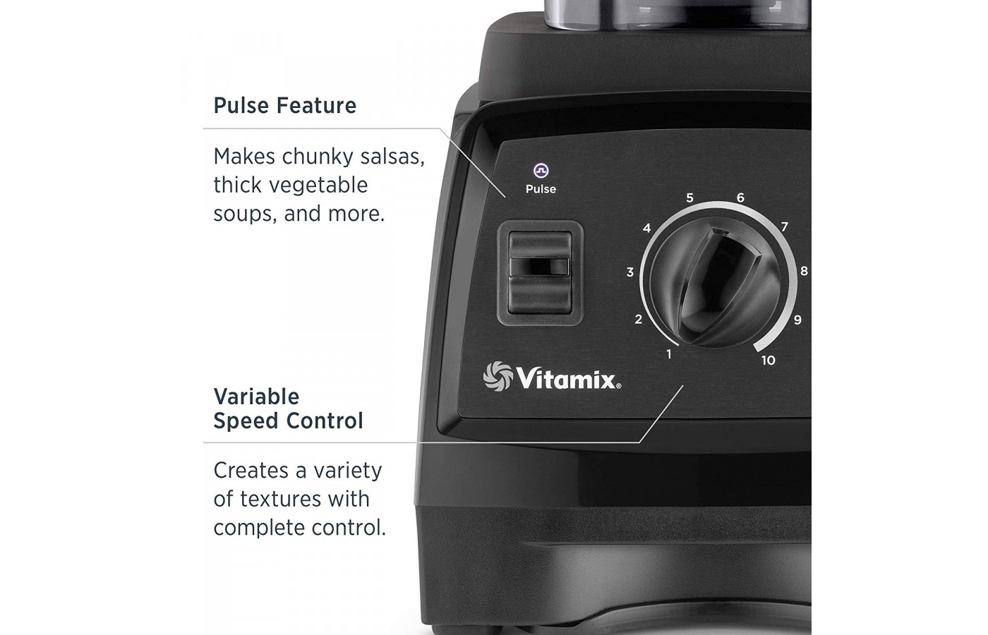 There are also ten speeds and a pulse button for manual use to speed up or down