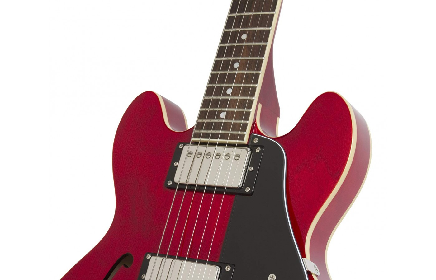 It has two '57 Classic Humbuckers in the neck and bridge along with chrome Gibson parts hardware.