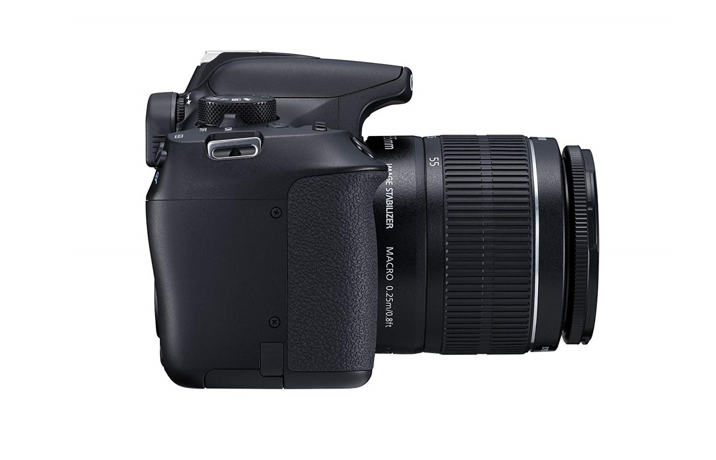 The Canon EOS 1300D offers a a large ISO sensitivity range of ISO 100-6400 which reduces the need for harsh flashes.
