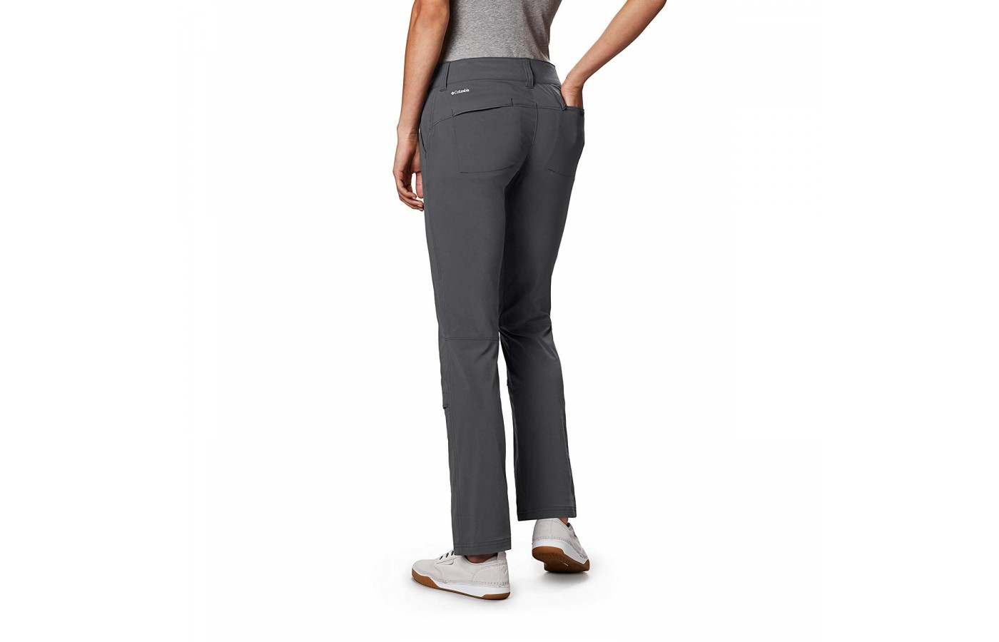 The Columbia Saturday Trail Pant offers a modern straight-leg design.