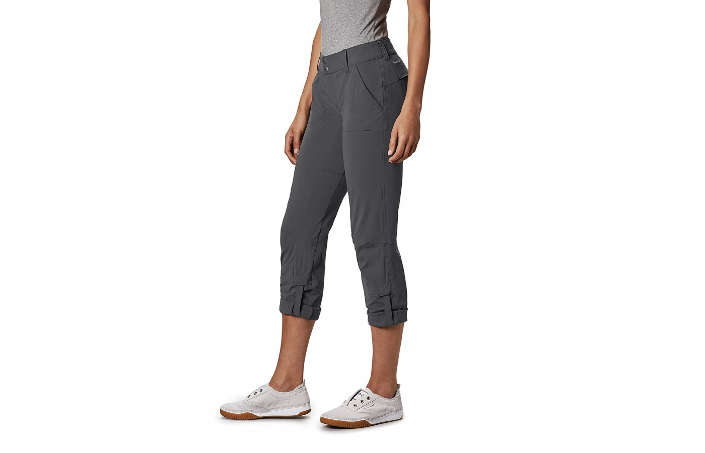 The Columbia Saturday Trail Pant offers roll-up legs for even further breathability and comfort.