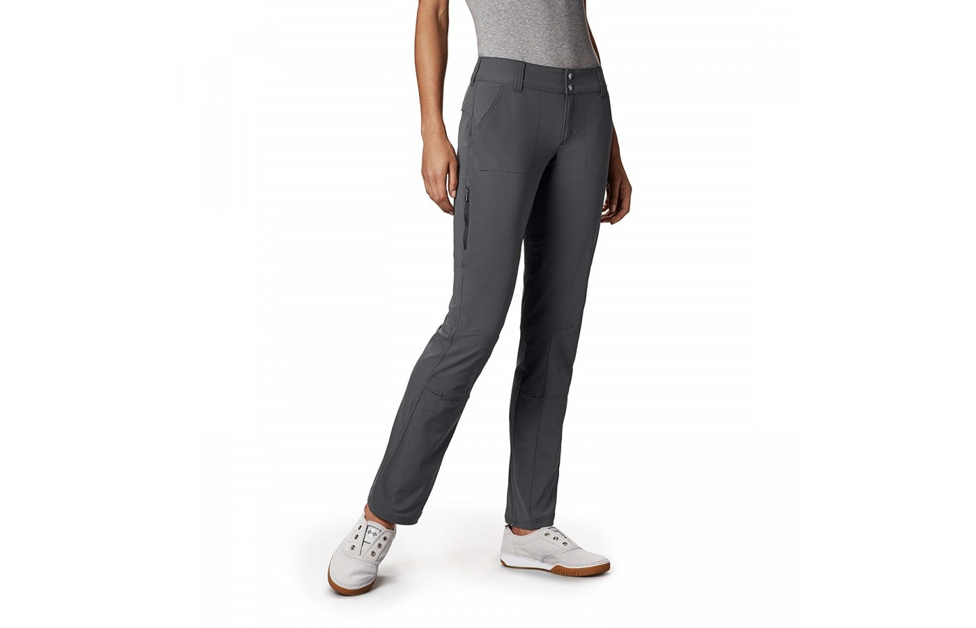 The Columbia Saturday Trail Pant offers comfort stretch for more comfortable movement.