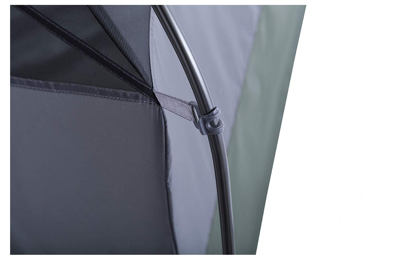 With hooking style latches from the tent to its rain fly, you won't have to struggle with siding everything through loops.